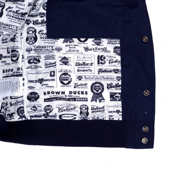 CARHARTT Navy Campbell Jacket with Looser Ribbed Waistband and Sleeve Cuffs