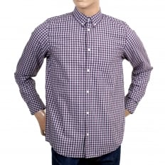 Regular fit Alabama Jeff check casual shirt with button down collar and single chest pocket