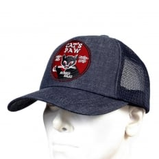 Mens CP02328 Denim Truckers Cap with Navy Mesh Back