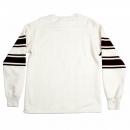 CHESWICK Ecru Off White College Football Crew Neck Regular Fit Long Sleeve Sweatshirt with Football Print CH64089