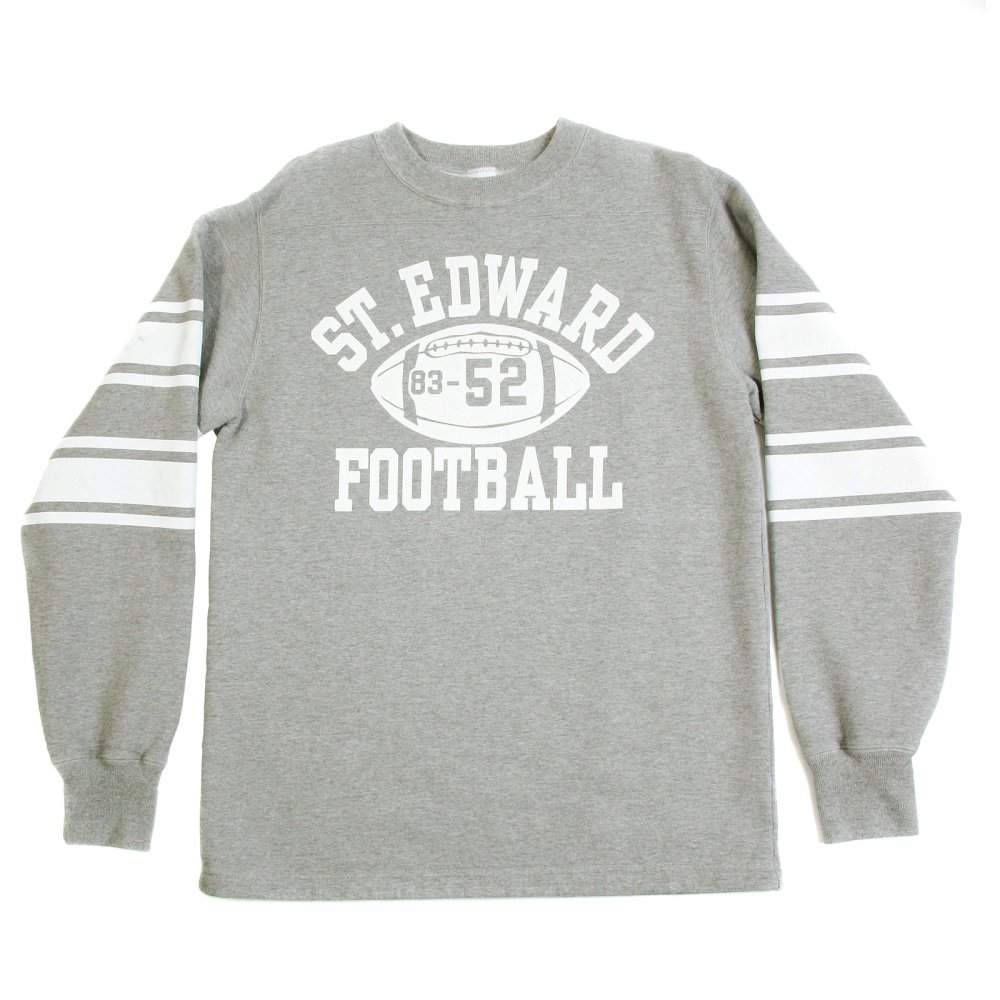 94d9c6dcd CHESWICK Light Grey Ribbed Crew Neck College Football Regular Fit Long  Sleeve Sweatshirt CH64089