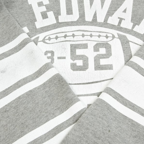 CHESWICK Light Grey Ribbed Crew Neck College Football Regular Fit Long Sleeve Sweatshirt CH64089
