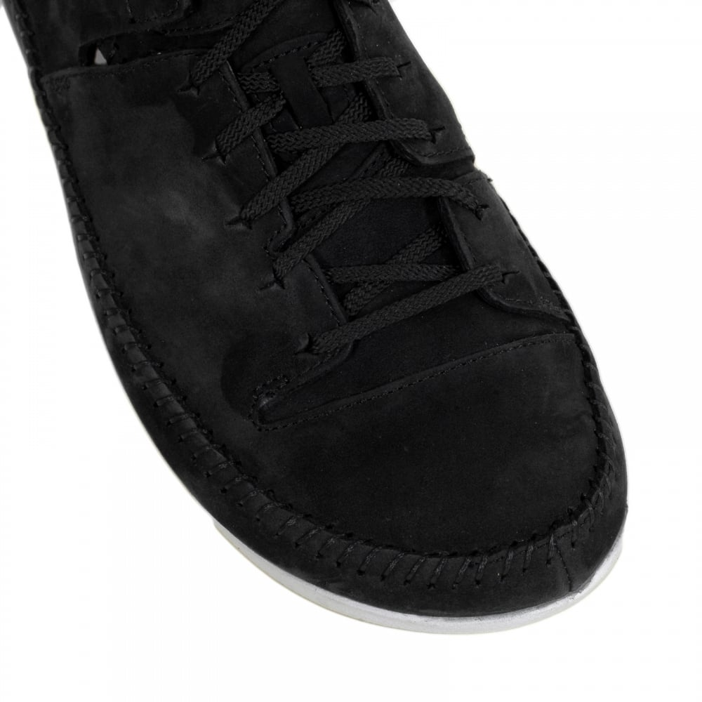 Mens Casual Shoes in Black Nubuck by Clarks Originals