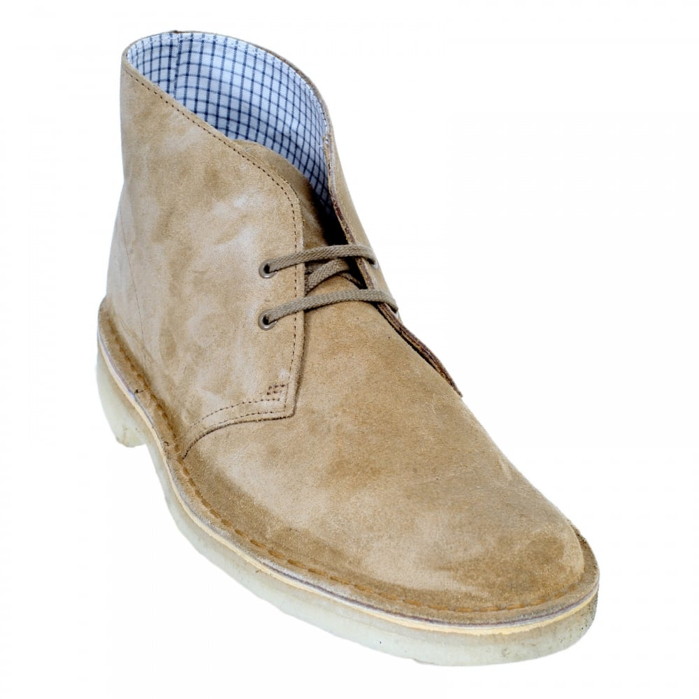Oakwood Toned Mens Suede Boots By Clarks Originals