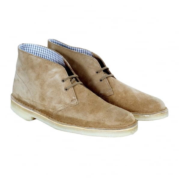 CLARKS ORIGINALS Mens Oakwood Suede Desert Boots 26110058 with Crepe Sole