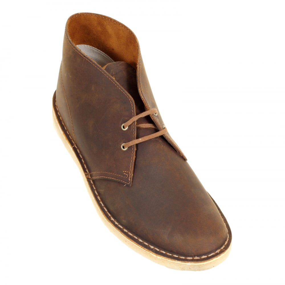 ... CLARKS ORIGINALS Mens Premium Beeswax Leather Desert Boots 26106562  with Crepe Sole ...