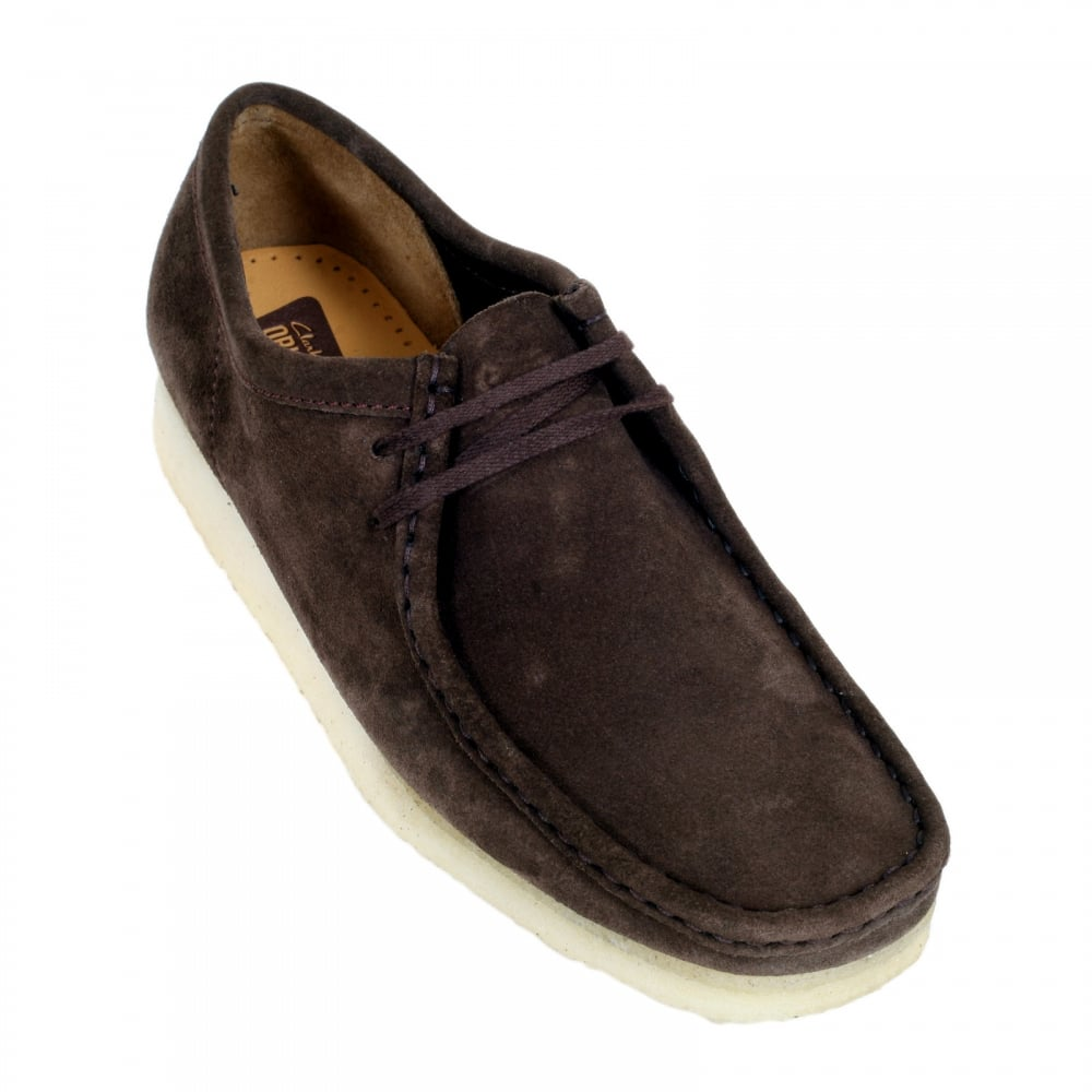 Buy Mens Lace Up Dark Brown Shoes By Clarks Originals D Island Moccasine Slip On Lacoste Suede Blue Wallabee Classic Moccasin With Apron Toe And Crepe