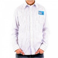 Blue Multi Stripe Long Sleeve Fitted Shirt