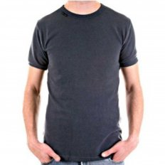Crew Neck Dark Grey Slim Fit Short Sleeve T-Shirt