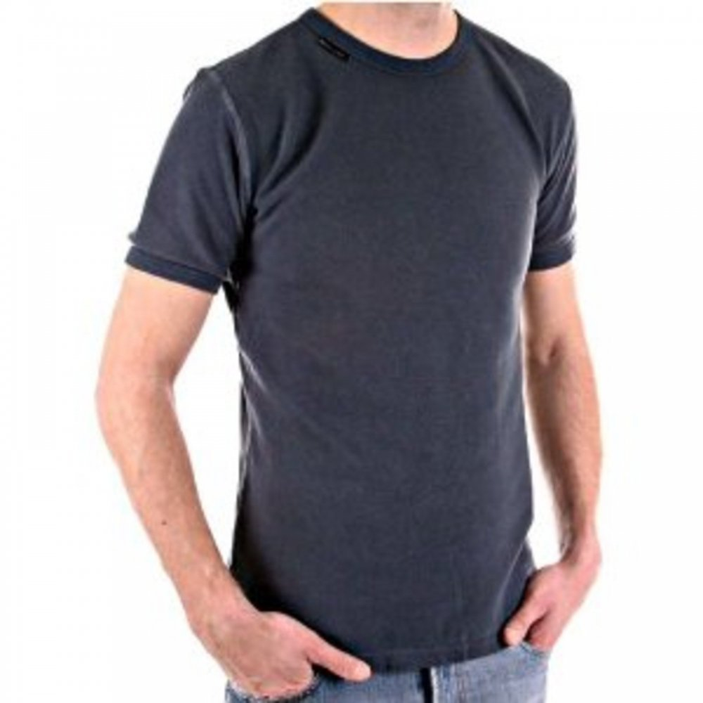 c2117962 D&G DOLCE & GABBANA Crew Neck Dark Grey Slim Fit Short Sleeve T-Shirt ...