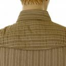 D&G DOLCE & GABBANA Khaki Striped Fitted Long Sleeve Shirt