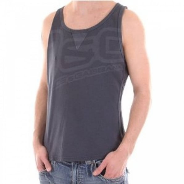 D&G DOLCE & GABBANA Regular fit Washed Grey Vest