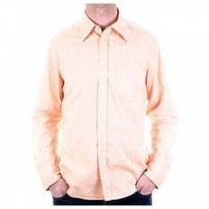 Self-coloured woven stripe shirt