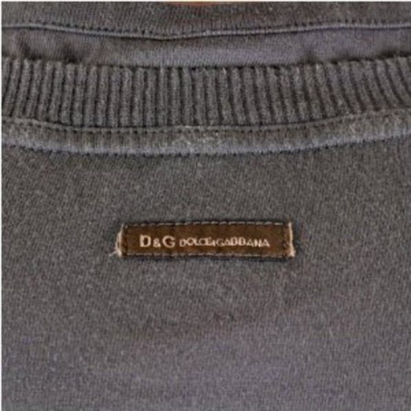 D&G DOLCE & GABBANA Washed Green Long Sleeve Slim Fit T-Shirt