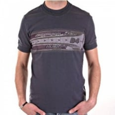Washed grey slim fit short sleeve tshirt