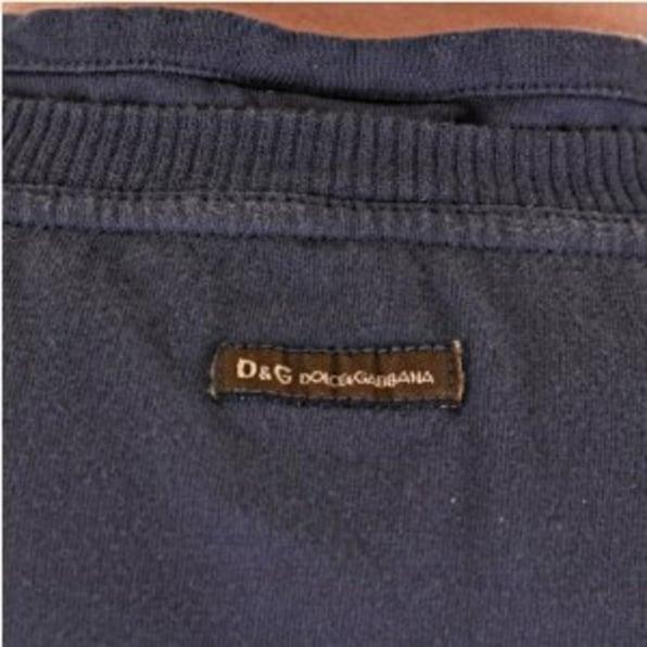 D&G DOLCE & GABBANA Washed grey slim fit short sleeve tshirt