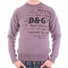 Washed Lilac Long Sleeve Slim Fit Sweatshirt