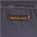 D&G DOLCE & GABBANA Washed Round Neck T Shirt in Grey