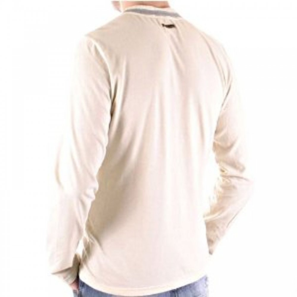 59aca415 ... D&G DOLCE & GABBANA Washed Stone Crew Neck Long Sleeve Slim Fit T-Shirt  ...
