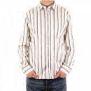 D&G DOLCE & GABBANA White Long Sleeve Striped Fitted Shirt