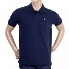 Mens Cotton Classic Fit Polo Shirt in Navy
