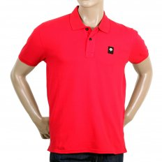 Mens Cotton Classic Fit Red Polo Shirt