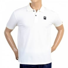 Mens Cotton Classic Fit Short Sleeve Polo Shirt in White
