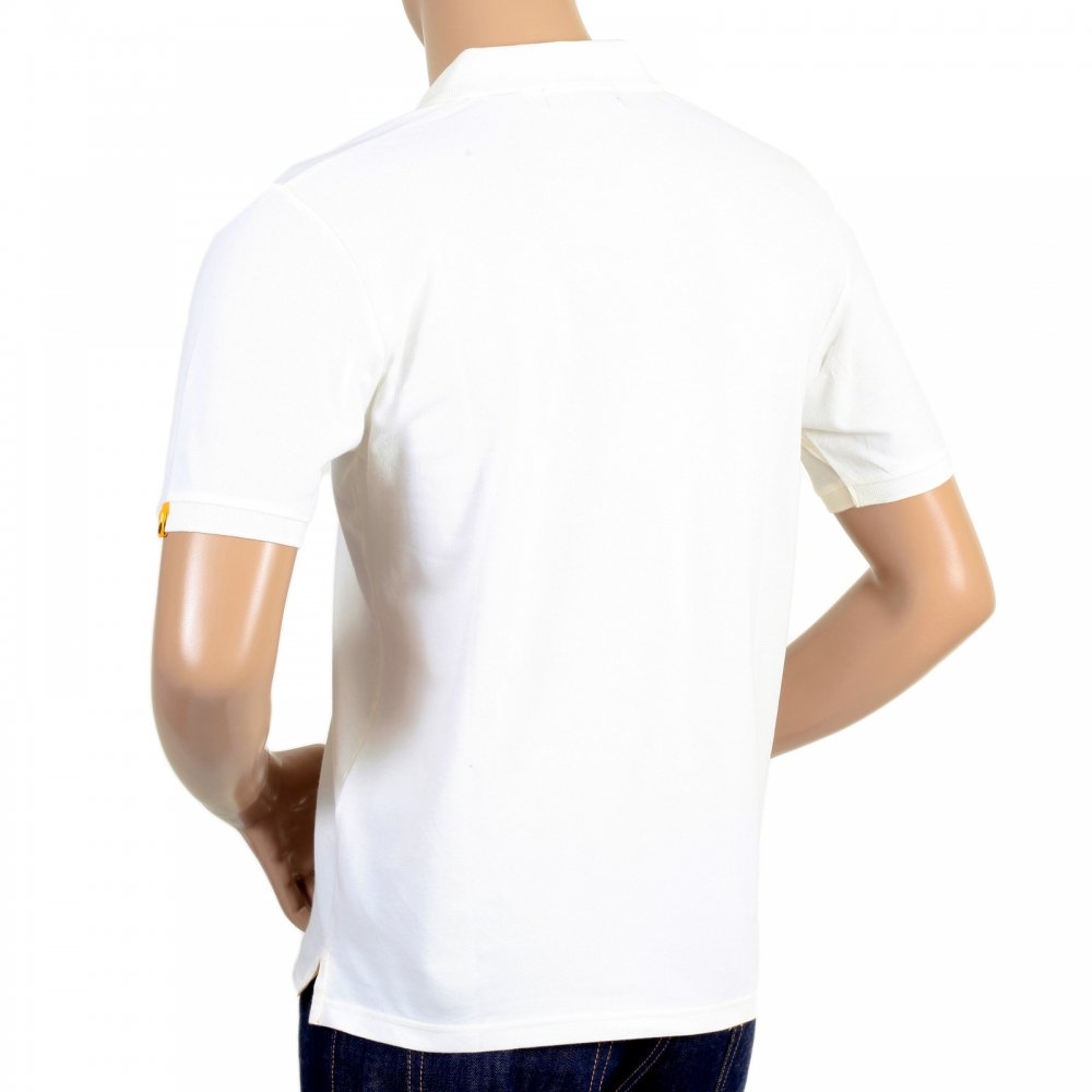 ba539b83ed6ac ... DESCENTE Mens Cotton Classic Fit Short Sleeve Polo Shirt in White ...
