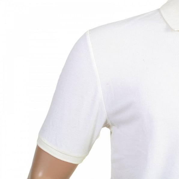 DESCENTE Mens Cotton Classic Fit Short Sleeve Polo Shirt in White