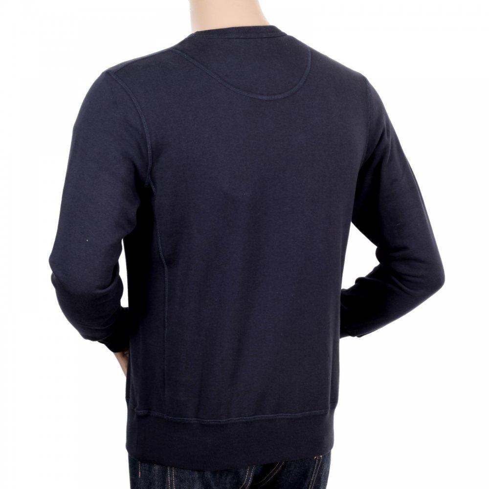 fa6eac3eca3d ... DESCENTE Mens Navy Crew Neck Cotton Regular Fit Sweatshirt ...