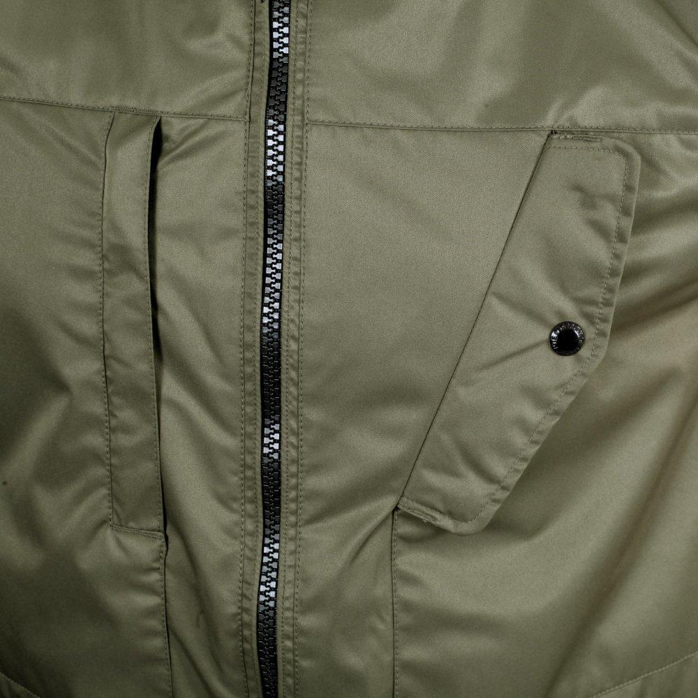 f071b265e6b ... DESCENTE Mens Regular Fit Green Storm Parka Jacket ...