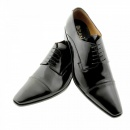DiSANTO Black Leather Classic Lace up shoes