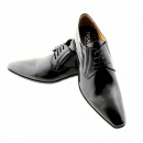 DiSANTO Black Leather Oxford Lace up shoes