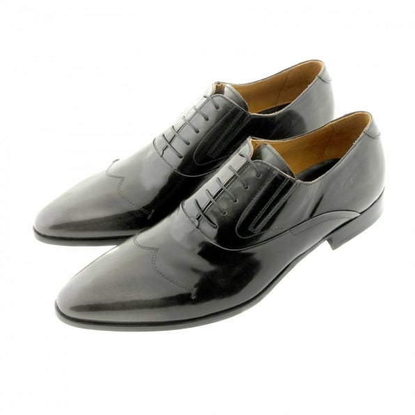 DiSANTO Wing tip black and grey Leather shoes