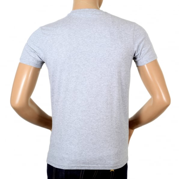 DSQUARED2 Grey Regular Fit Short Sleeve Crewneck Cotton T-Shirt with Maple Leaf Logo DS26292
