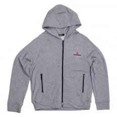Mens Hooded Zipped Front Sweatshirt in Grey by DSquared with Logo Applique DSQU6278