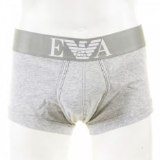 Marl Grey Stretch Cotton Trunk with Grey Waistband
