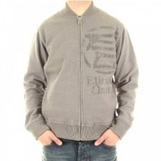 Long Sleeve Marl Grey Zipped Sweatshirt Jacket