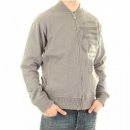 ETIENNE OZEKI Long Sleeve Marl Grey Zipped Sweatshirt Jacket
