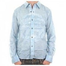 Raul Mali long sleeve light blue shirt