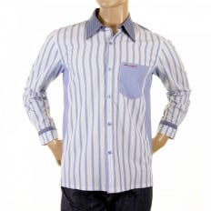 Sky blue striped shirt