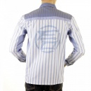 ETIENNE OZEKI Sky blue striped shirt