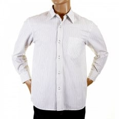 White shirt with black pinstripes