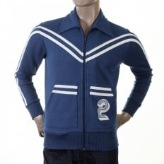 Authentic and Rare Ink Blue Retro Track Jacket
