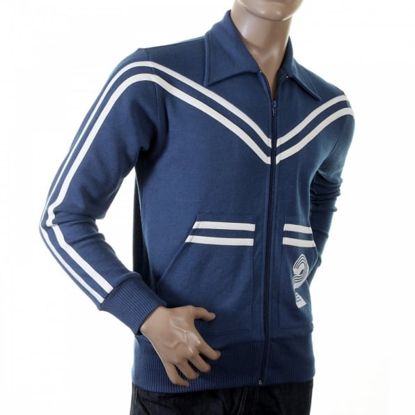 EVISU Authentic and Rare Ink Blue Retro Track Jacket