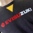 EVISU Authentic Rare Blue Black EVISUZUKI t shirt