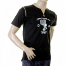 EVISU Black 24 HOUR LOOM SERVICE t shirt