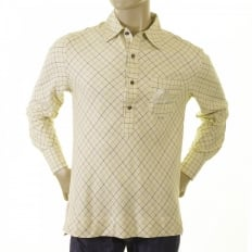 Cream-Coloured Tattersall Polo shirt
