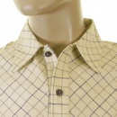 EVISU Cream-Coloured Tattersall Polo shirt