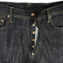 EVISU Dark Indigo Slim Cut Painted Pocket Jeans